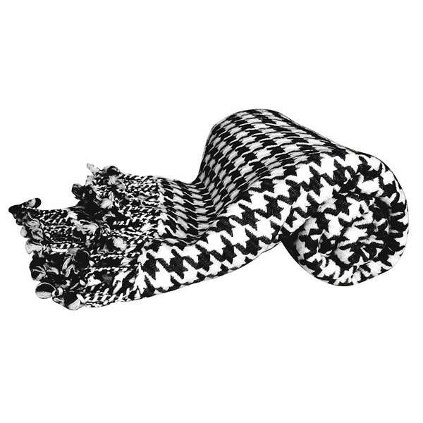 Kit 100% Cashmere Houndstooth Throw by Latitude Run